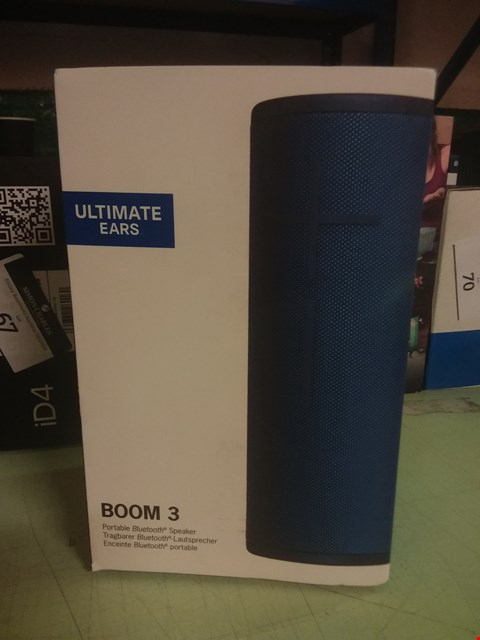 Lot 68 ULTIMATE EARS, BOOM 3 WIRELESS BLUETOOTH SPEAKER