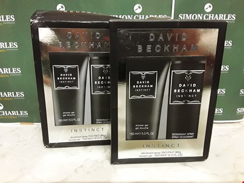 Lot 12040 LOT OF 2 DAVID BECKHAM STYLE INSTINCT 2PC BOXSETS