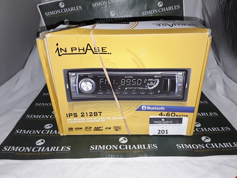 Lot 201 BOXED IN PHASE IPS 212BT MP3 RECEIVER