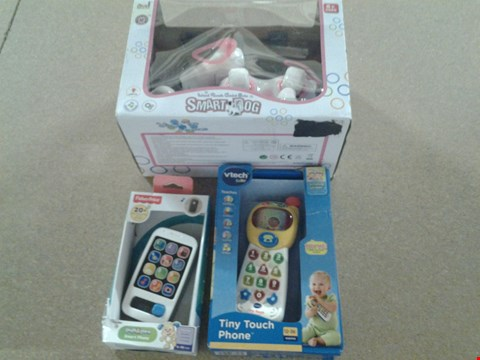 Lot 381 3 ASSORTED PRODUCTS TO INCLUDE; SMART DOG, LAUGH N LEARN SMART PHONE AND V TECH TINY TOUCH PHONE