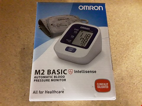 Lot 8040 BOXED OMIRON M2 BASIC AUTOMATIC BLOOD PRESSURE MONITOR