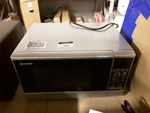 Lot 1361 SHARP R270SLM 20L 800W SOLO MICROWAVE RRP £99.99