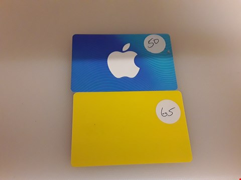 Lot 32 2 ASSORTED GIFT CARDS TO INCLUDE APPLE AND SELFRIDGE'S TOTAL VALUE £115