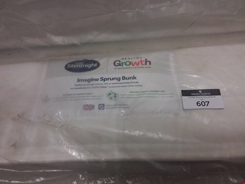 Lot 607 BAGGED SILENTNIGHT HEALTHY GROWTH IMAGINE SPRUNG BUNK 120CM MATTRESS