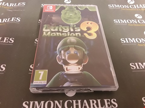 Lot 1207 LUIGIS MANDION 3 NINTENDO SWITCH GAME