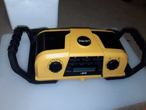Lot 258 UEME JOB SITE DAB AND FM RADIO STEREO WITH BLUETOOTH STREAMING
