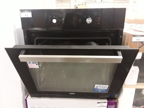 Lot 412 BEKO BQM24301BCS BLACK BUILT-IN ELECTRIC SINGLE MULTIFUNCTION OVEN