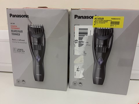 Lot 322 TWO BOXED PANASONIC WET/DRY BEARD/HAIR CORDLESS TRIMMERS