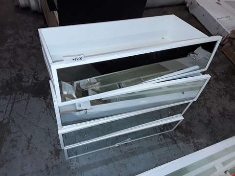 Lot 834 LOT OF 4 MIRROR FRONT DRAWERS WITH CRYSTAL LOOK HANDLES