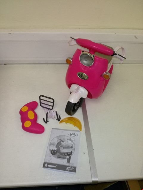 Lot 9151 BABY BORN CITY RC SCOOTER PINK RRP £55.00