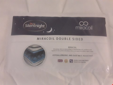 Lot 309 DESIGNER BAGGED 90CM SILENTNIGHT MIRACOIL DOUBLE SIDED MATTRESS