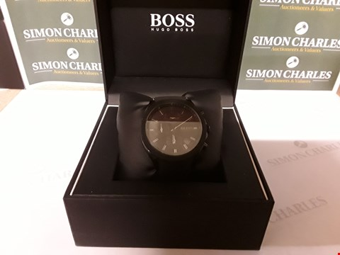 Lot 61 BOSS VELOCITY BLACK TEXTURED CHRONOGRAPH DIAL BLACK SILICONE STRAP MENS WATCH RRP £279.00
