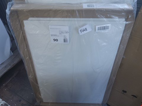 Lot 1448 WHITE ACRYLIC END PANEL 700MM