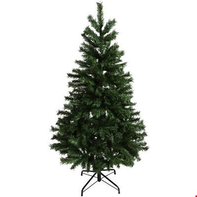 Lot 198 BOXED STARRY FLOCKED 5' CHRISTMAS TREE