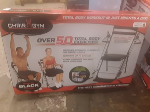 Lot 289 CHAIR GYM OVER 50 TOTAL BODY EXERCISES SPECIAL BLACK EDITION