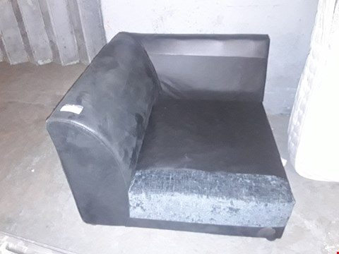 Lot 1092 BLACK FAUX LEATHER CORNER SECTION ( NO CUSHIONS)