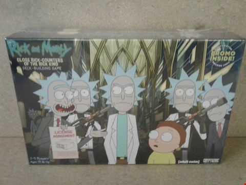 Lot 249 BRAND NEW BOXED RICK AND MORTY CLOSE ENCOUNTERS OF THE RICK KIND DECK BUILDING GAME