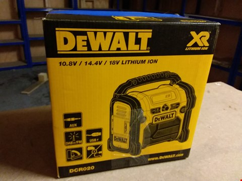 Lot 927 DEWALT DCR020 COMPACT SITE RADIO