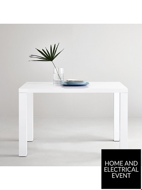 Lot 1 BRAND NEW BOXED ATLANTIC 80 × 120CM GLOSS WHITE DINING TABLE RRP £179.00