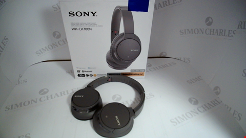 Lot 17333 SONY WH-CH700N WIRELESS BLUETOOTH NOISE CANCELLING HEADPHONES - GREY