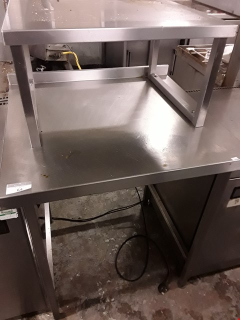 Lot 64 SQUARE METSL WORK TABLE WITH STAND