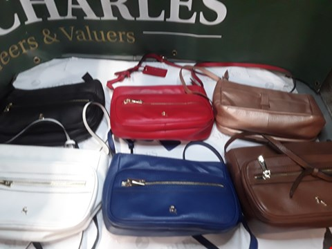 Lot 1245 LARGE BOX OF APPROXIMATELY 15 ASHWOOD HANDBAGS BLUE,RED BLACK AND MORE