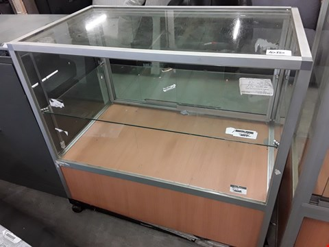 Lot 1050 GLAZED SERVE OVER DISPLAY CABINET