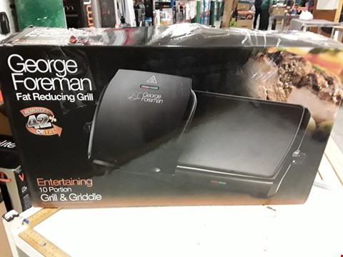 Lot 3013 GEORGE FOREMAN FAT REDUCING GRILL