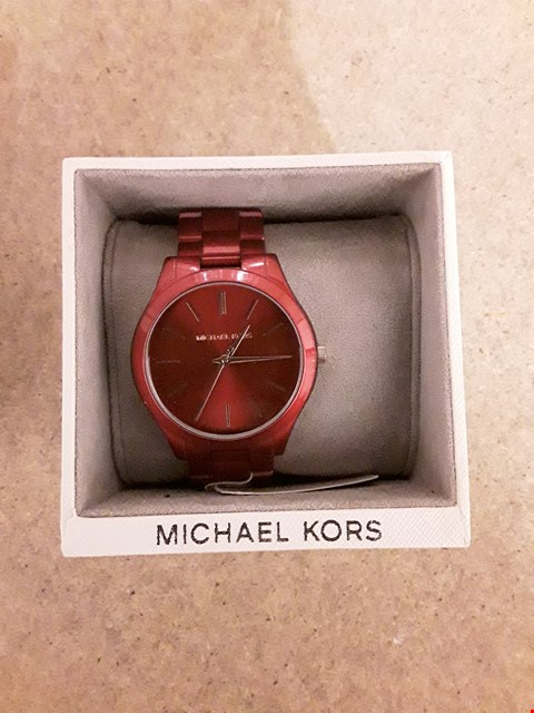 Lot 2249 MICHAEL KORS SLIM RUNWAY RED IP LADIES WATCH