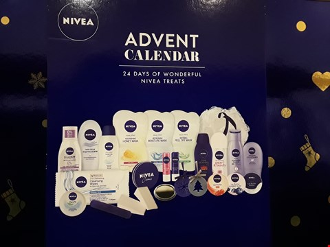 Lot 2027 BOXED NIVEA ADVENT CALENDAR CONTAINING REFRESHING MOISTURE MASK, REFINING PEEL OFF MASK, ORIGIONAL CARE LIP BALM AND SMOOTH BODY BUTTER ECT