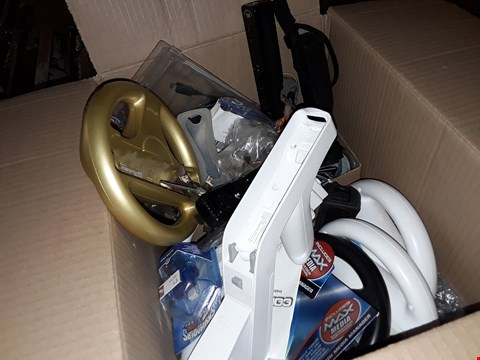 Lot 9091 A BOX TO INCLUDE APPROXIMATELY 10 ASSORTED NINTENDO WII ACCESSORIES