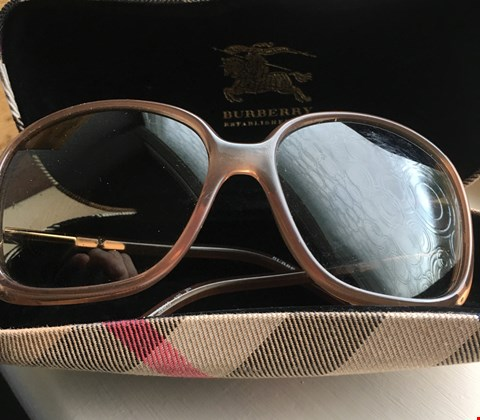 Lot 40 SIGNED BURBERRY SUNGLASSES DONATED BY BRITISH ACTRESS SUE JOHNSTON