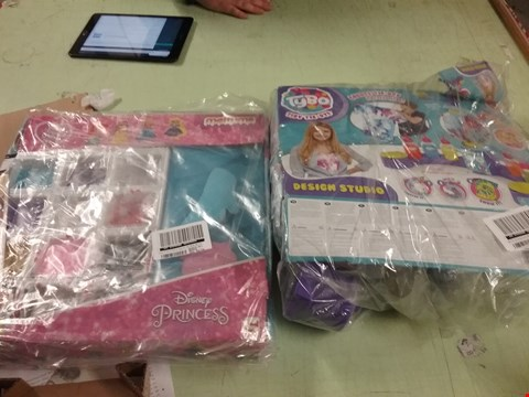 Lot 177 LOT OF 2 TOYS TO INCLUDE- TYBO TIDY TIE DYE - DISNEY PRINCESS MEDIUMS  RRP £50