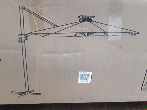 Lot 11124 BOXED 3.5M ROTSTING CANTILEVER PARASOL WITH STRIP LED LIGHTS