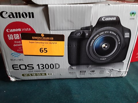 Lot 65 CANON EOS 1300D SLR CAMERA WITH 18-55MM LENS RRP £331