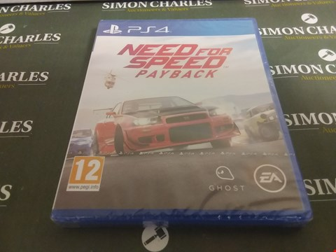 Lot 1050 NEED FOR SPEED PAYBACK PLAYSTATION 4 GAME