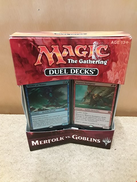 Lot 37 BRAND NEW BOXED MAGIC THE GATHERING DUEL CARD DECKS: MERFOLK VS. GOBLINS