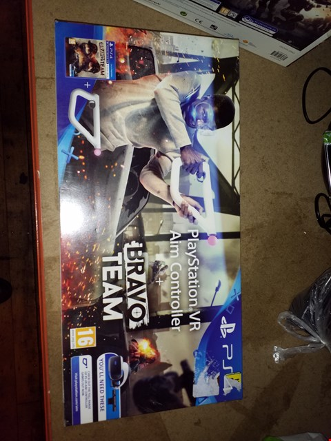 Lot 2274 PS4 VIRTUAL REALITY AND AIM CONTROLLER WITH BRAVO TEAM