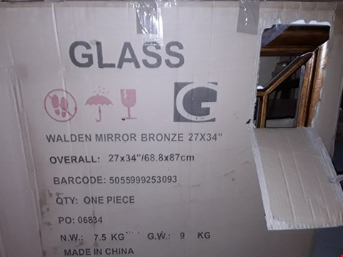 Lot 12151 BOXED WALDEN BRONZE LOOK MIRROR - 27X34""