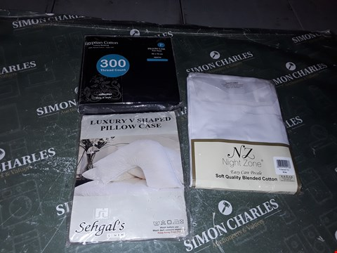 Lot 1260 LOT OF 3 ASSORTED PILLOW CASE PAIRS