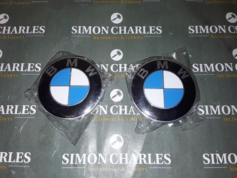 Lot 4063 PAIR OF BMW ALLOY BADGES APPROXIMATELY 68MM