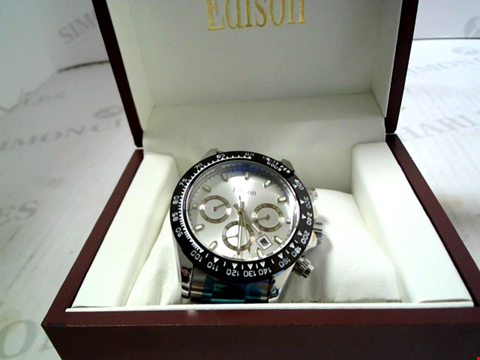 Lot 7156 DESIGNER EDISON AUTOMATIC WATCH WITH CHRONOGRAPH MOVEMENT   RRP £650.00