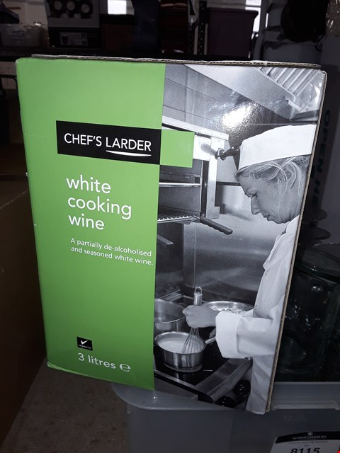 Lot 8114 2 BOXES OF CHEFS LARDER COOKING WINE