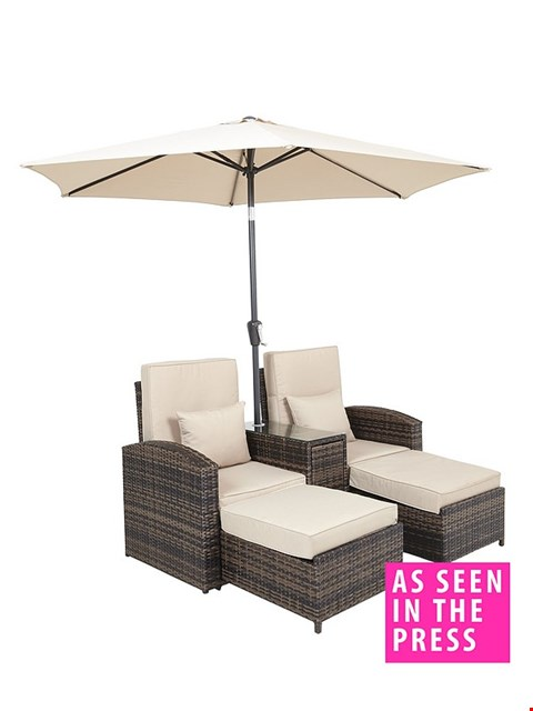 Lot 7064 BOXED GRADE 1 CORAL BAY MULTI FUNCTIONAL SUN LOUNGER SOFA - 2 BOXES RRP £759.99
