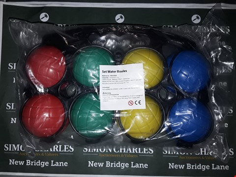 Lot 771 BOX OF 6 ASSORTED SETS OF WATER BOULES