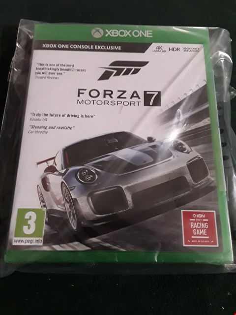 Lot 1035 BRAND NEW BOXED FORZA MOTORSPORT 7 XBOX ONE GAME RRP £64.99