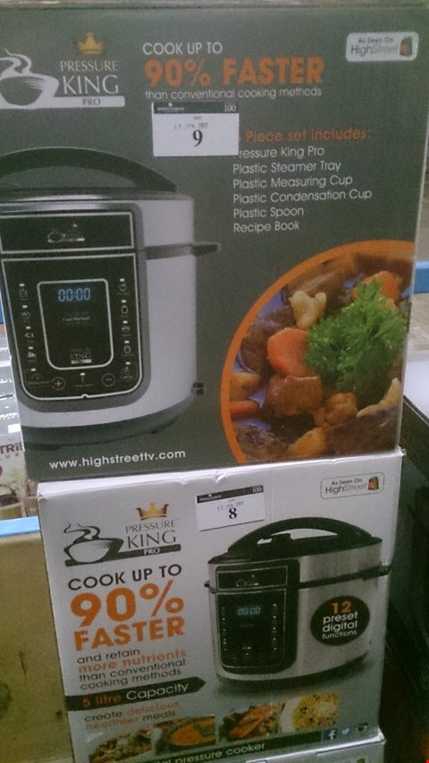 Lot 5 BOXED PRESSURE KING PRO 12 IN 1 PRESSURE COOKER