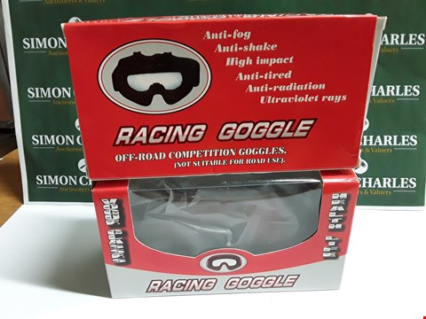 Lot 356 LOT OF 2 BOXED PAIRS OF RACING GOOGLES