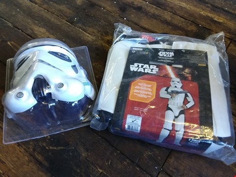 Lot 590 BOXED STAR WARS DELUXE STORMTROOPER COSTUME
