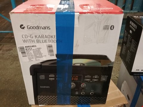 Lot 19 BOXED GOODMANS CD-G KARAOKE WITH BLUETOOTH